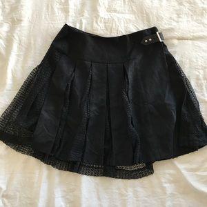 6f1bb2eda Pinko Pleated Black And Lace Kilt Style Skirt
